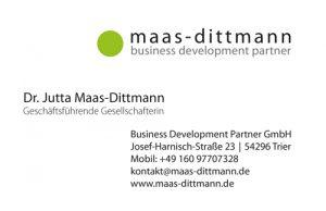 Visitenkarte Dr. Maas-Dittmann